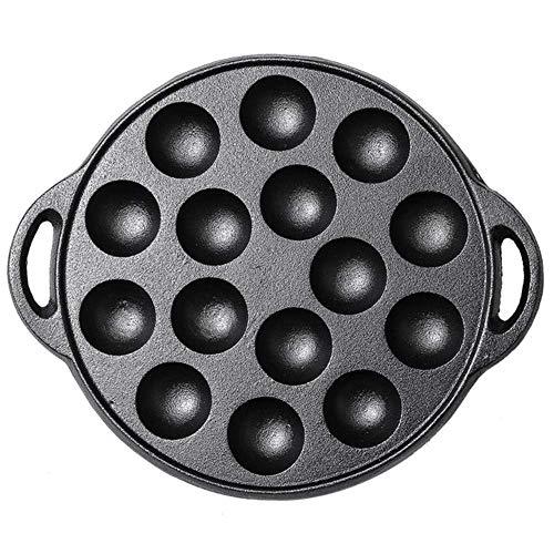1yess Antihaft-Gusseisen Backen Pan Kuchen Kokne Koffer Kugel Bratpfanne Grillplatte Für Gasherd Waffel Backen Pan Breakfast Pot Eier Pan (Color : A)