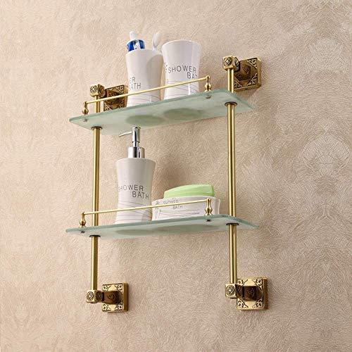 Yuany Glasregal für Badezimmer, Wandspiegel, Ablagefach vorne, doppeltes Waschbecken für Badezimmer, Dusche, Hotel, Badezimmer, Glas