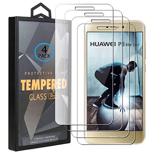 Ycloud 4 Pack Vidrio Templado Protector para Huawei P8 Lite 2017 /...