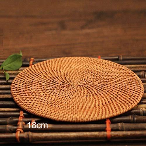 JF-XUAN Ratán Naturales Enviar Tit Olla de montaña Calentar una Taza de la Taza de té la Taza de café Posavasos for Bebidas Calientes Mantel decoración de la Cocina (Color : Style A3)