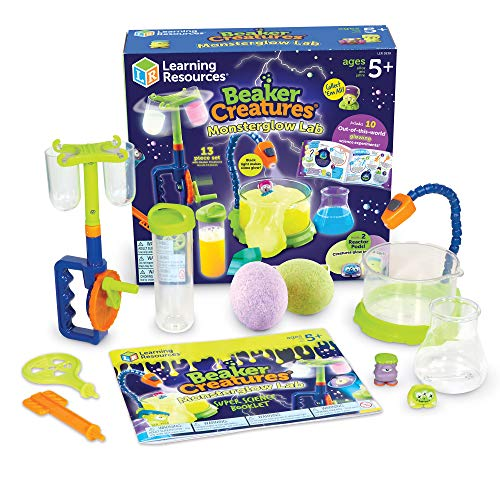Learning Resources LER3838 Beaker Creatures Monsterglow Lab Set, STEM, Science Experiment Toy, Ages 5+