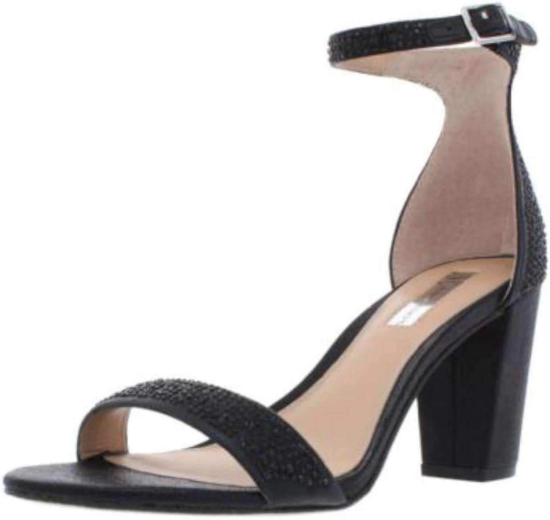 INC International Concepts Womens Kivah 2 Fabric Open Toe, Black, Size 11.0