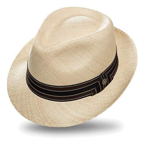 Preisvergleich Produktbild Kastori Panamahut Strohhut Herren Damen Bogarthut Edel & Elegant »Remus« Gr.L