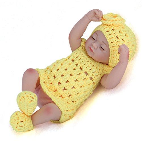 LLX Reborn Baby Doll Mini Simulación Suave Vinilo De Silicona Completa 12 Pulgadas 30 Cm Realista Juguete De La Muchacha del Muchacho
