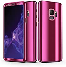 Galaxy S9 Case, KMISS Ultra Slim Luxury Electroplate 360 Degree Full Body Protection Mirror + Soft Screen Protector Film Hard PC 360 Degree Coverage Case for Samsung Galaxy S9 (2018) (Purple)