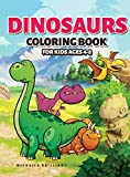 Dinosaurs Coloring Book for Kids Ages 4-8: 50 images of dinosaurs that will entertain children and engage them in creative and relaxing activities to discover the Jurassic era