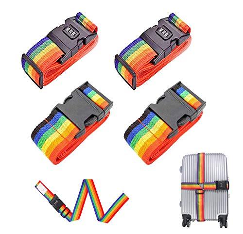 Correa para equipaje, correas ajustables para equipaje, correas de equipaje resistentes, para cerrar de forma segura las maletas en viajes