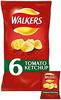 Walkers Tomato Ketchup Crisps 25g x - 6 per pack (0.33lbs)