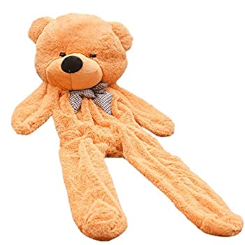 5.9 Feet Super Giant Teddy Bear Outer Cover Animal Toy Huge Bear Shell  Yellow 1.8m