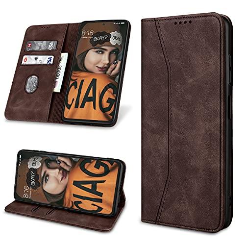 Yokata Handyhülle für Xiaomi Poco X3 NFC/Poco X3 Pro Hülle Premium Leder Klappbar Klapphülle Flip Hülle Standfunktion Kartenfächern Lederhülle Magnetisch Stoßfest Schutzhülle Tasche 6,67