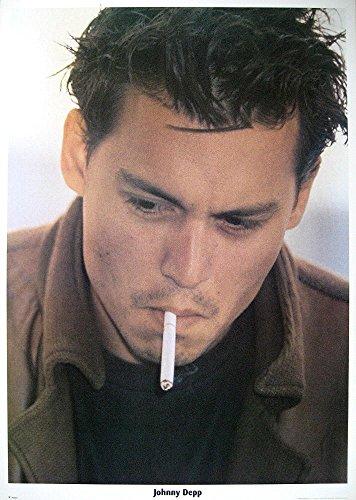 JOHNNY DEPP Filmposter Portrait Cigarette