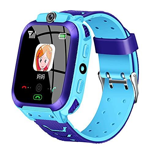 huanglanshangmao Teléfono for niños Reloj de posicionamiento Cámara Impermeable Pantalla táctil Reloj for niños Mire y niñas Reloj Inteligente (Color : 2)
