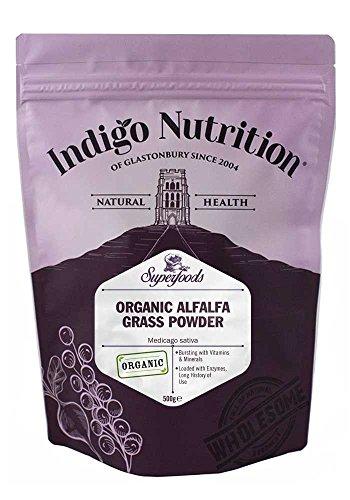Indigo Herbs Polvo Orgánico de Hoja de Alfalfa 500g