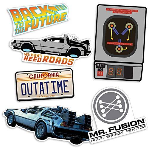 Popfunk Back to The Future Delorean Time Machine Collectible Stickers