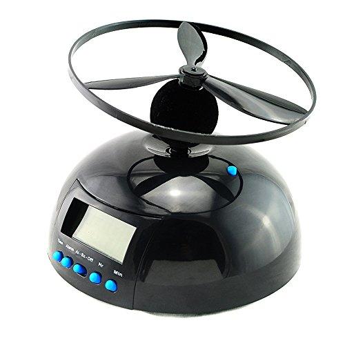 ixaer UFO目覚まし時計 ヘリコプター プロペラ式 【絶対に起きられる】 いたずら置き時計 空飛ぶ目覚まし時計 寝過ごし対策