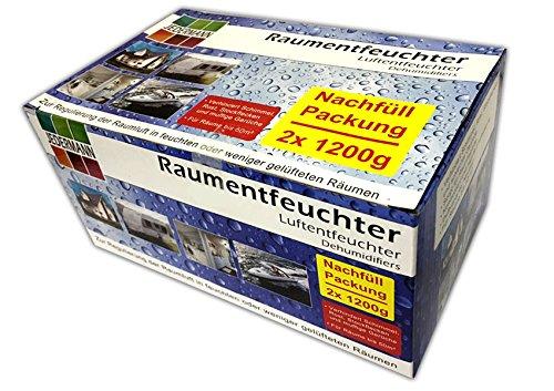 2x 1200g Nachfüllpack für Luftentfeuchter | Raumluftentfeuchter Lufttrockner