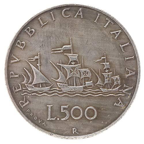 Humpie Copia Moneta Italia 500 Lire CARAVELLE Repubblica Italiana Busto di Donna