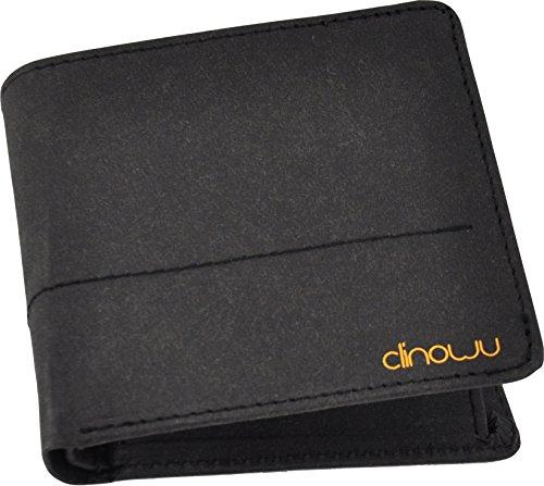clinowu Portemonnaie im Querformat, Herren | Premium-Geldbeutel aus Kraftpapier, ohne Leder, vegan | RFID-Blocker eingebaut