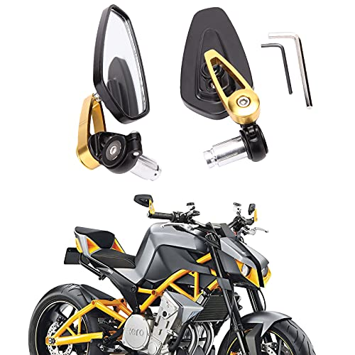 Espejos retrovisores de la motocicleta lateral universal con extremo de barra manillar de aleación de aluminio de 7/8