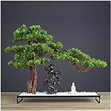 Artificial Bonsai Tree Tree Fake Plant Decoration Artificial Bonsai Juniper Árbol Planta de Rockery Planta Bonsai Indoor Plantas Artificiales Para Oficina Inicio Showcase Decoración Planta Artificial