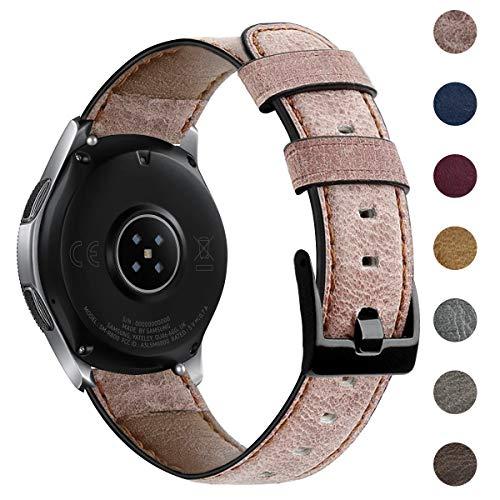 CAVN 22mm Armbänder Kompatibel mit Samsung Galaxy Watch 3 45mm /Galaxy Watch 46mm /Huawei GT 2 46mm /HONOR Magic Watch 2 46mm Leder Armband, Verstellbares Ersatz Armbänder für Galaxy 3 45mm 46mm /GT 2