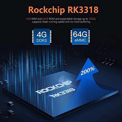 Android 10.0 TV Box D1 Pro 4 GB RAM 64 GB ROM / CPU RK3318 64 Bit / Dual WiFi 2.4 / 5G + 100 MB LAN Android Dolby TV-Box / H.265 3D 4K HD/USB 3.0/Bluetooth 4.0 Smart Android TV Box