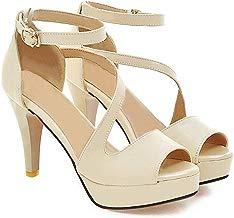 Sandalias con Tacon Alto para Mujer Plataforma Zapatos de Vestir de Fiesta con Punta Abierta para Mujer