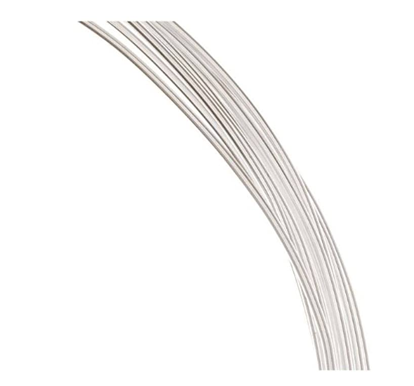 Authentic Sterling Silver Wire Dead Soft Jewelry Wire | 20 Feet Round Beading Wire (Thin wire ~ 0.4mm or 26GA) SS283-0.4