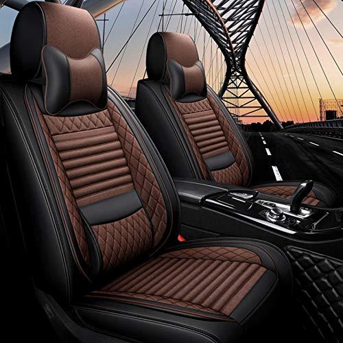 Fly YUTING Cubierta del Asiento del automóvil para Ford Focus 2 Mondeo Mk4 MK1 MK7 MK3 Fusion Kuga Ranger Fiesta Explorer 5 KA Smax Ranger Figo Asiento de Coche Cubiertas,Marrón