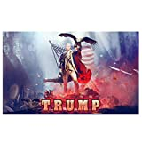 Donald Trump Pistol Flag for President 2020, Keep America Great Flag (3 x 5 FT with Grommets) Trump 2020 Double Sided Flag American Flag Trump Made in USA Donald Trump President 2020 MAGA Flag Banner
