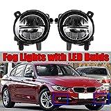 Une paire de voiture avant LED antibrouillard feu antibrouillard DRL conduite lampe Compatible avec F20 F22...