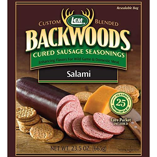 LEM Backwoods Cured Sausage Seasoning with Cure Packet, Salami Sausage