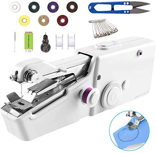 Home DIY Handheld Sewing Machine, Chriffer Mini Portable Electric Stitching...