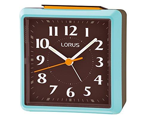 Seiko Alarm Clock (8.5 cm x 8.4 cm x 5.1 cm, Blue, LHE043LN)