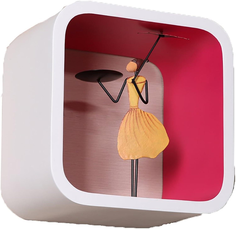 Platz auerhalb der weien Farbe Plaid Schlafzimmer Wohnzimmer Speicherschrank Partition Wand kreative Farbe Rack (Farbe   D)