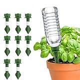 RIOGOO 8 Pack Dispositivos de riego automático de Plantas, Spide Waterer de Plantas Plantas de Vacaciones Macetas de riego Sistema de estacas de riego por Goteo de Flores