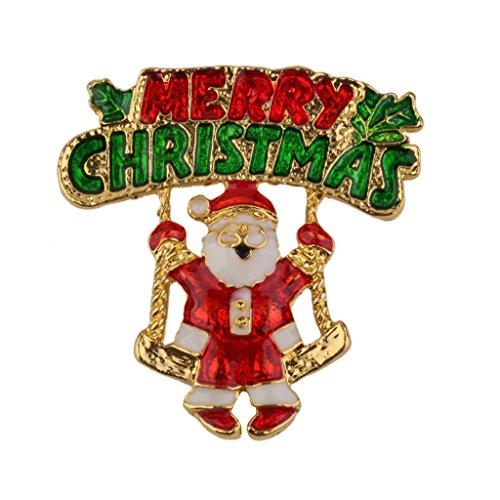 Broche Pin Santa Claus Letras Decoración Regalo Para Navidad Fiesta Colorido