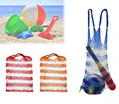 sacca justshopping, borsa a rete per giochi da spiaggia anti sabbia secchiello paletta per mare piscina bambini giocattoli borsa 80 cm Borsa porta giochi e attrezzatura per il mare a rete