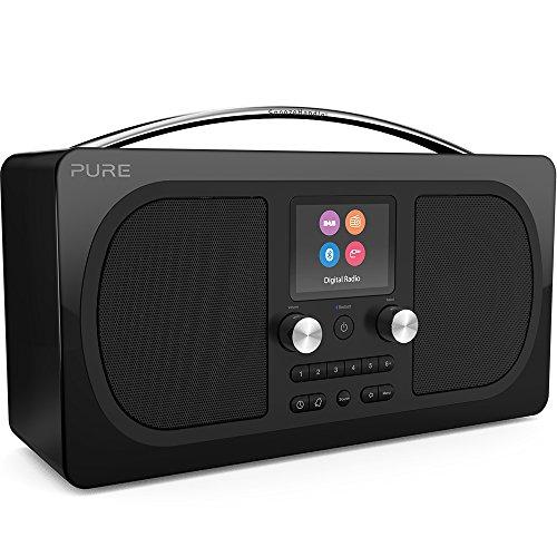 Pure Evoke H6 Digitalradio (DAB+, DAB, UKW, Stereo-Sound, Bluetooth, Sleep-Timer, Weckfunktion, Schlummerfunktion, Countdown-Timer, 40 Senderspeicherplätze, AUX), Schwarz