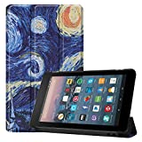 Coque pour Kindle Fire 7 Tablet (2019/2017), Ultra Mince Étui à Trois Volets Housse Cuir PU Étui...