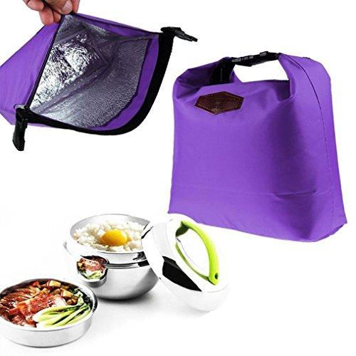 Xshuai Sac isotherme pour déjeuner - Glacière portable et étanche - Sac isotherme - Sacs pour pique-nique - 28 cm x 24 cm x 9 cm, Tissu, violet, Size:28cm×24cm×9cm
