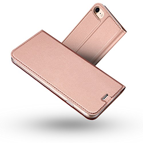 Radoo iPhone 8 Hülle,iPhone 7 Hülle, Premium PU Leder Handyhülle Brieftasche-Stil Magnetisch Klapphülle Etui Brieftasche Hülle Schutzhülle Tasche für Apple iPhone 7/ iPhone 8 4.7 Zoll (Rose Gold)