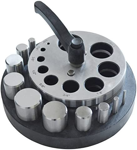 Circle Disc Cutter Set with 10 Punches 1 8 to 1 1 4 Diameter Jewelry Making Round Metal Forming product image