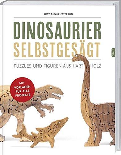 Dinosaurier selbst gesägt: Puzzles und Figuren aus Hartholz.