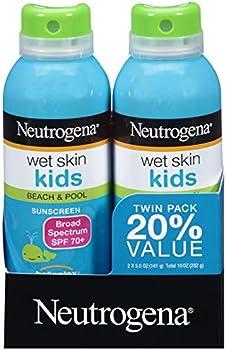 4-Count (2 x 2-Pack) Neutrogena Wet Skin Kids SPF 70+ Sunscreen Spray