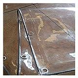 LIANGJUN Cobertura de plástico Lona De Protección Suave A Prueba De Viento Transparente Espesar El Plastico PVC Balcón Al Aire Libre Planta, 600 G / ㎡ (Color : A, Size : 2x5.74m)
