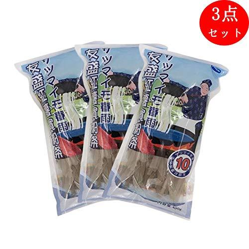 友盛紅薯寛粉条(約10mm)【3点セット】 サツマイモ春雨 お鍋の具 中華物産 400gx3