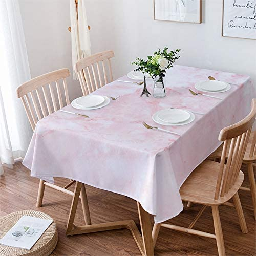 Olivefox Bargain sale Rectangle Raleigh Mall Table Cloth Pink Cover Texture W Marble