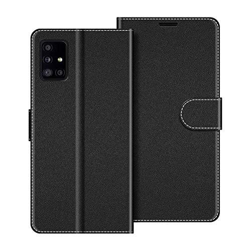 COODIO Funda Samsung Galaxy A51 5G con Tapa, Funda Movil Samsung A51 5G, Funda Libro Galaxy A51 5G Carcasa Magnético Funda para Samsung Galaxy A51 5G, Negro