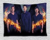 Supernatural Tapestry, Popular Movie Theme Tapestry Wall Hanging Home Decor Fantasy Art for Bedroom Living Room Dorm 60 X 50 Inch